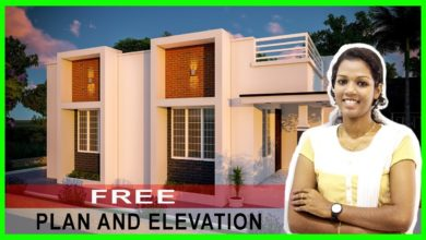Photo of 845 Sq Ft 2BHK Contemporary Style House and Free Plan, 13.75 Lacks