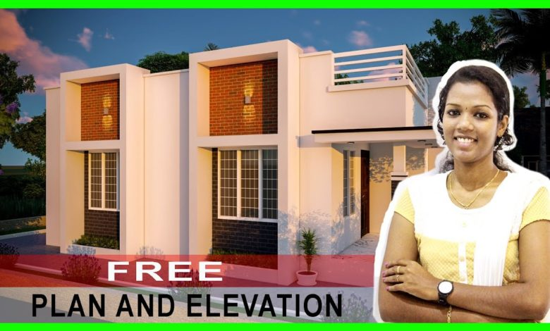 845 Sq Ft 2BHK Contemporary Style House and Free Plan, 13.75 Lacks