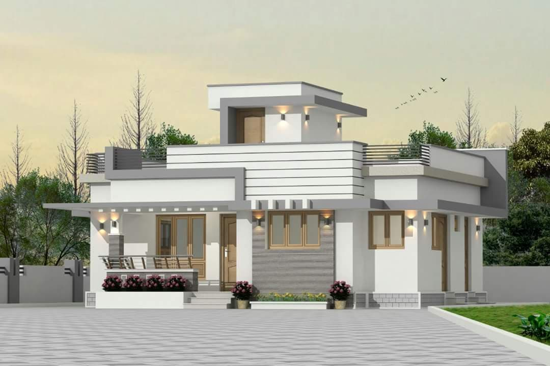 850 Sq Ft 2BHK Fusion Style Single Floor House and Free Plan, 13 Lacks