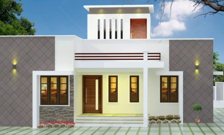 893 Sq Ft 2BHK Fusion Style Single-Storey House and Free Plan
