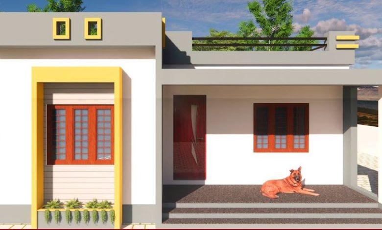 900 Sq Ft 3BHK Modern Single Floor House and Free Plan, 8 Lacks