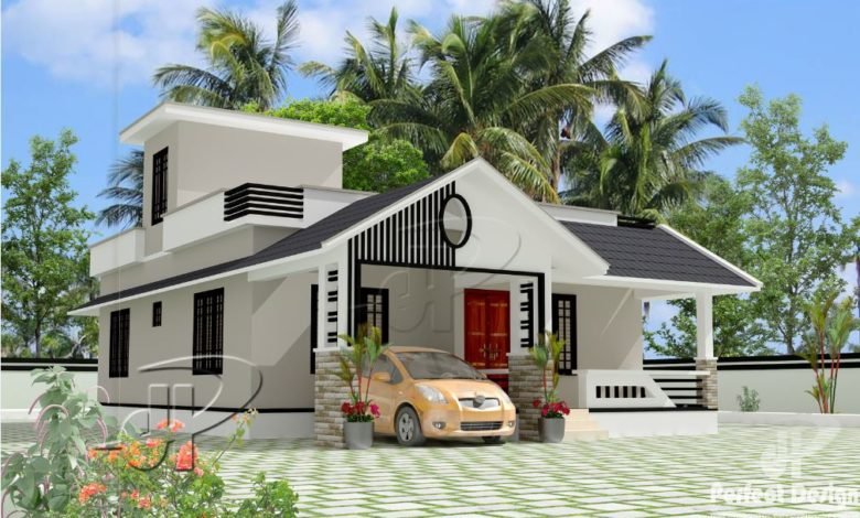 957 Sq Ft 2BHK Traditional Style Single-Storey House and Free Plan