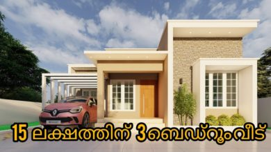 Photo of 970 Sq Ft 3BHK Contemporary Style House and Free Plan, 15 Lacks