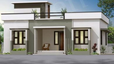 Photo of 1050 Sq Ft 3BHK Modern Single Floor House and Free Plan, 16 Lacks
