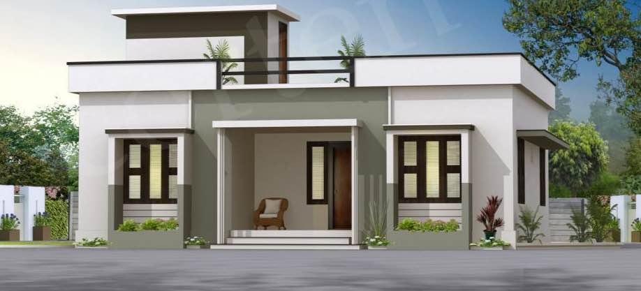 1050 Sq Ft 3BHK Modern Single Floor House and Free Plan, 16 Lacks