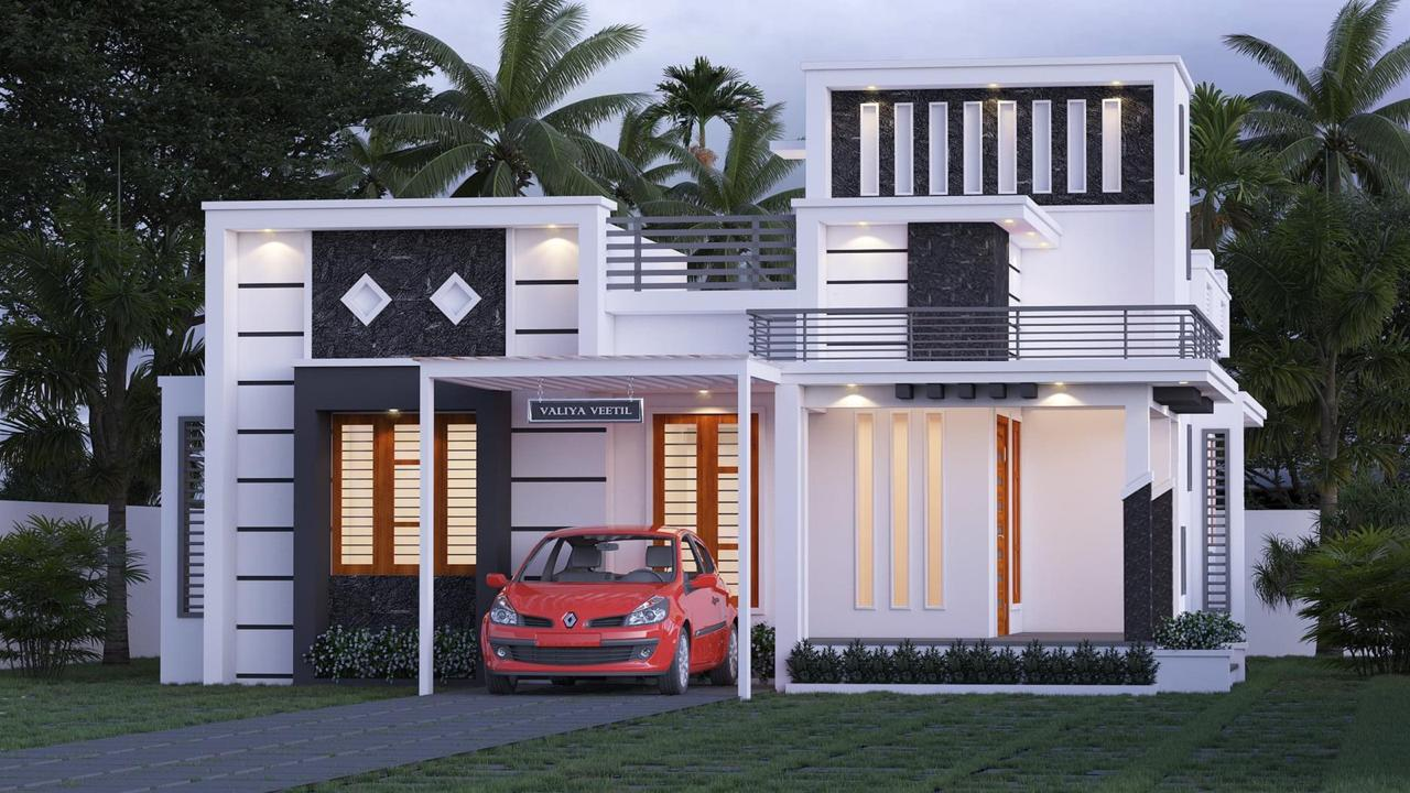 1183 Sq Ft 2BHK Contemporary Style Single-Storey House and Free Plan