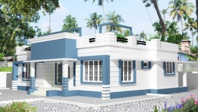 Photo of 1207 Sq Ft 3BHK Contemporary Style Single Floor House and Free Plan