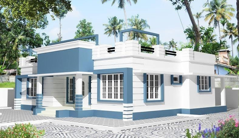 1207 Sq Ft 3BHK Contemporary Style Single Floor House and Free Plan