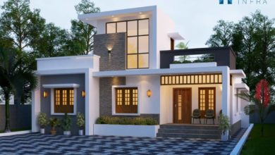 Photo of 1284 Sq Ft 2BHK Contemporary Style Single-Storey House and Free Plan