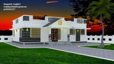 Photo of 1300 Sq Ft 3BHK Traditional Mix Style Beautiful House and Free Plan