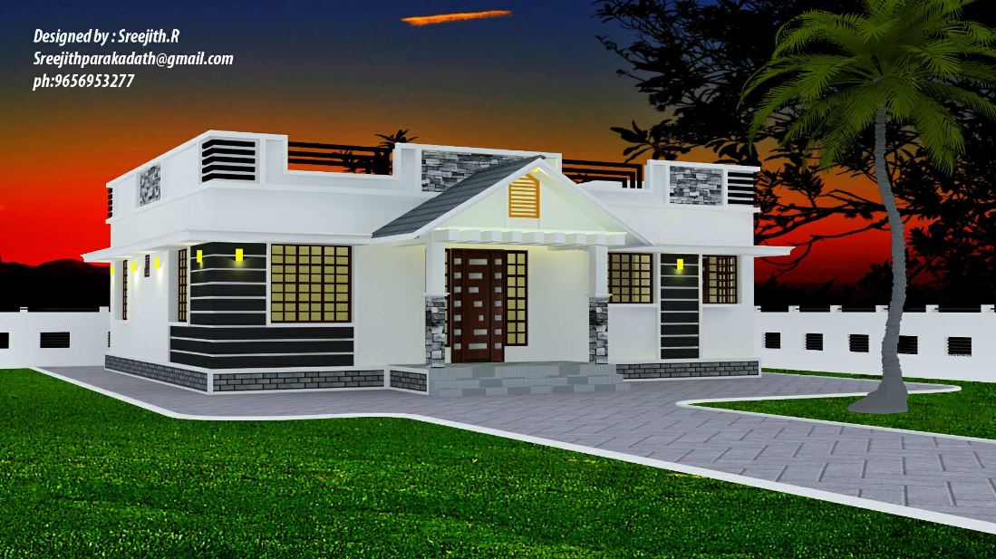 1300 Sq Ft 3BHK Traditional Mix Style Beautiful House and Free Plan