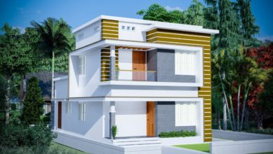 Photo of 1380 Sq Ft 3BHK Box Type Two Floor House and Free Plan