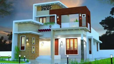 Photo of 1410 Sq Ft 3BHK Contemporary Style Two-Storey House and Free Plan