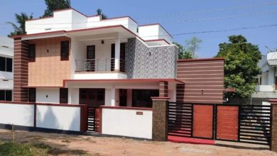 Photo of 1420 Sq Ft 3BHK Modern Two-Storey House and Free Plan