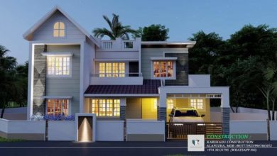 Photo of 1485 Sq Ft 3BHK Contemporary Style Two-Storey House and Free Plan