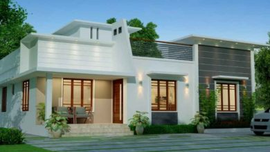 Photo of 1555 Sq Ft 3BHK Contemporary Style Single Floor House and Free Plan