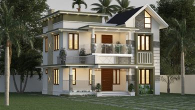 Photo of 1710 Sq Ft 4BHK Contemporary Style Two-Storey House and Free Plan
