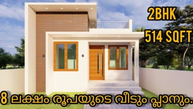 Photo of 514 Sq Ft 2BHK Modern Single Floor House and Free Plan, 8 Lacks