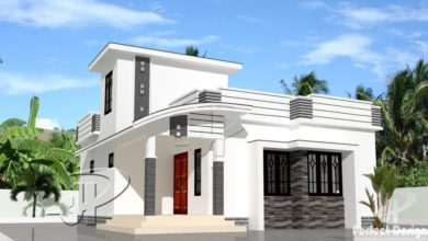 Photo of 753 Sq Ft 2BHK Contemporary Style Single-Storey House and Free Plan