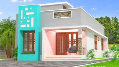 Photo of 850 Sq Ft 2BHK Modern Single-Storey House and Free Plan