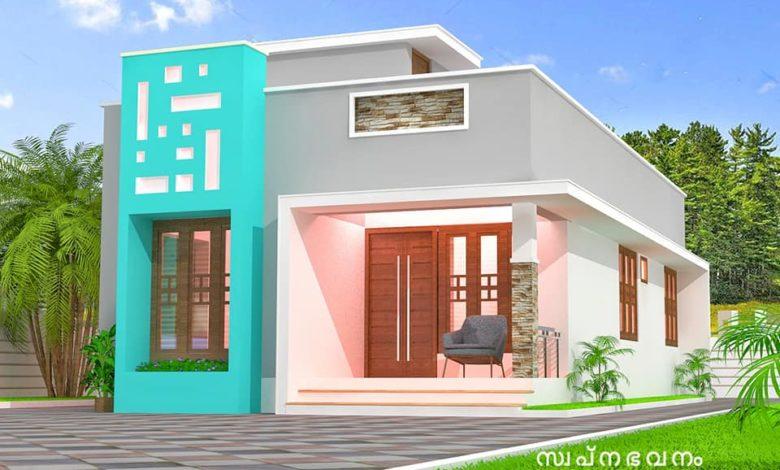 850 Sq Ft 2BHK Modern Single-Storey House and Free Plan