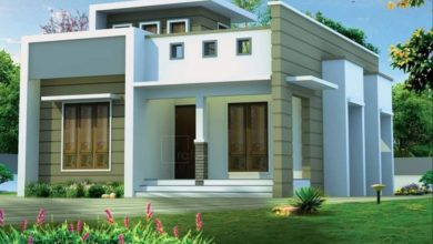 Photo of 950 Sq Ft 2BHK Contemporary Style Single-Storey House and Free Plan