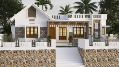 Photo of 1112 Sq Ft 3BHK Modern Single Floor House and Free Plan
