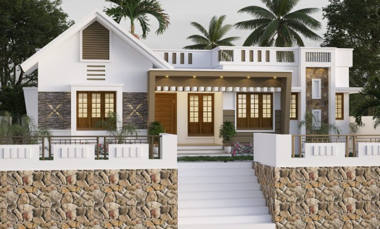 1112 Sq Ft 3BHK Modern Single Floor House and Free Plan