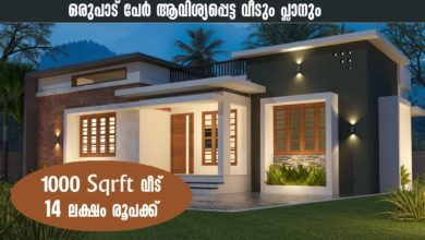 Photo of 1000 Sq Ft 2BHK Contemporary Style House and Free Plan, 14 Lacks