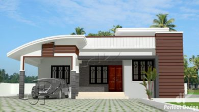 Photo of 1000 Sq Ft 3BHK Contemporary Style Single Floor House and Free Plan