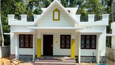 Photo of 1000 Sq Ft 3BHK Single Floor Simple Modern House and Free Plan, 16 Lacks