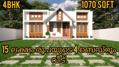 Photo of 1070 Sq Ft 4BHK Modern Single Floor House and Free Plan, 15 Lacks