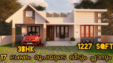 Photo of 1227 Sq Ft 3BHK Contemporary Style House at 5 Cent Plot, Free Plan, 17 Lacks