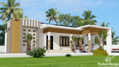 Photo of 1237 Sq Ft 3BHK Contemporary Style Single-Storey House and Free Plan