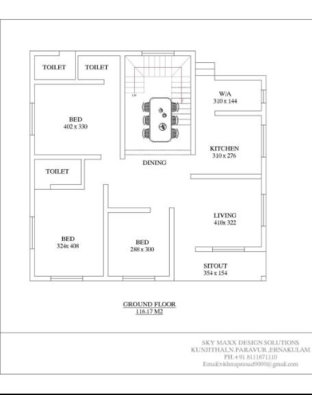 1250 Sq Ft 3BHK Modern Single Floor House and Free Plan, 18 Lacks