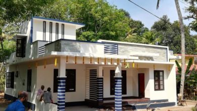 Photo of 1290 Sq Ft 3BHK Modern Single Floor House and Free Plan