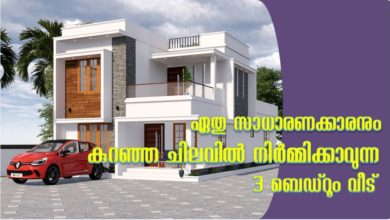 Photo of 1360 Sq Ft 3BHK Contemporary Style Home and Free Plan, 20 Lacks