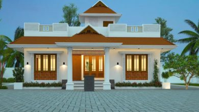 Photo of 1393 Sq Ft 3BHK Traditional Style Single-Storey House and Free Plan