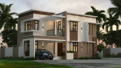 Photo of 1410 Sq Ft 3BHK Contemporary Style Home and Free Plan, 21.85 Lacks