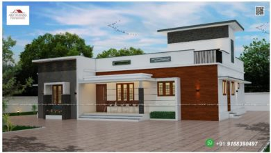 Photo of 1421 Sq Ft 3BHK Contemporary Style Single Floor Home and Free Plan
