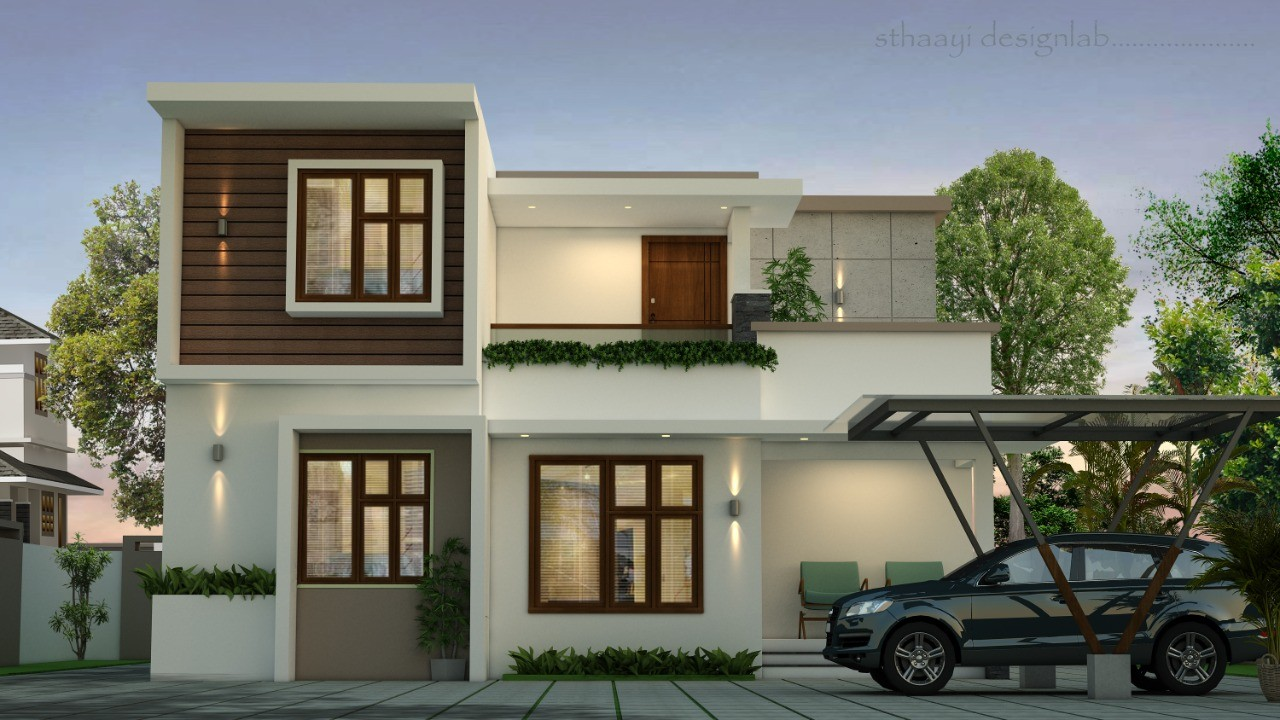 1660 Sq Ft 4BHK Contemporary Style Home at 4 Cent Plot, Free Plan, 25.73 Lacks
