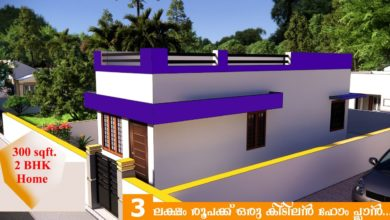Photo of 300 Sq Ft 2BHK Simple Low Budget House and Free Plan, 3 Lacks