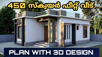 Photo of 450 Sq Ft 2BHK Modern Single Floor House and Free Plan, 7 Lacks