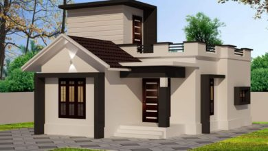 Photo of 636 Sq Ft 2BHK Modern Single-Storey House and Free Plan