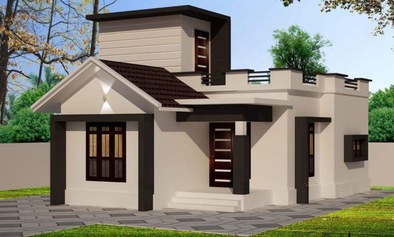 636 Sq Ft 2BHK Modern Single-Storey House and Free Plan