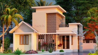 Photo of 900 Sq Ft 2BHK Contemporary Style Single Storey Home and Free Plan