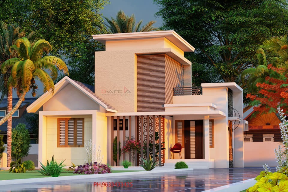 785 Sq Ft 2BHK Contemporary Style Single Storey Home and Free Plan