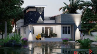 Photo of 800 Sq Ft 2BHK Fusion Style Single Storey House and Free Plan, 13 Lacks