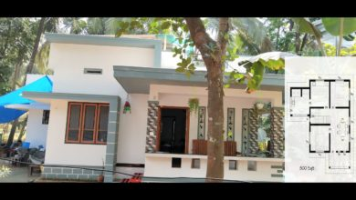 Photo of 800 Sq Ft 2BHK Modern Single Floor House and Free Plan