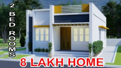 Photo of 825 Sq Ft 2BHK Modern Single Floor House and Free Plan, 8 Lacks